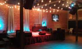 Setup on Stage of another Hip Hop show