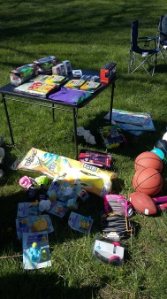 Some of the gifts given to kids during the Red Crane Records Easter Celebration 2016