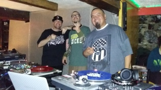 L to R - DJ Wicked, DJ Flip and myself Big Wispr