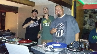 L to R - DJ Wicked, DJ Flip and myself Big Wispr