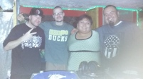DJ Wicked, DJ Flip, Jennifer, and Myself