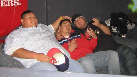 Me and my friends Chuck (L) and Rene (Middle) and me back in 2006 at Cadillac Jacks, back when you could still smoke in the bar so I had my cigar as usual