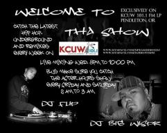 Flyer for a Hip Hop Show we used to do on KCUW LP Rez Radio on the Umatilla Indian Reservation