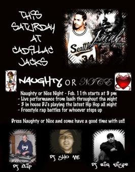 Old Flyer from one of our first Hip Hop shows in Pendleton
