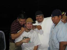 My friends and I in a Mc Donalds Parking Lot back in 08, at like 2 am I think. Driving back to Pendleton, we stopped for some food and to stretch our legs and talk shit