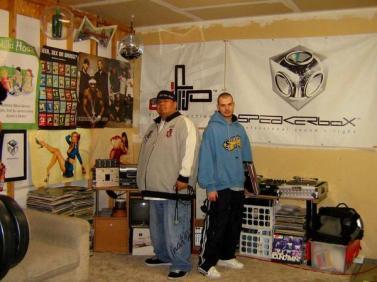 DJ Big Wispr and DJ Flip in Speakerbox Studios