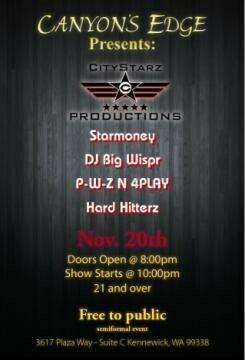 Show Flyer - City Starz Show in Kennewick, WA