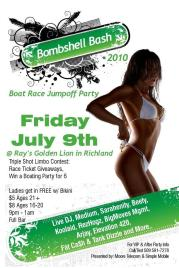 Show Flyer - Bombshell Bash with Black Rhino and Mo Mil - Tri Ciites