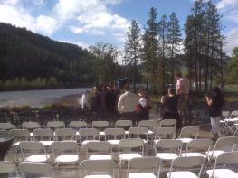Wedding I DJ'ed in Idaho, Orofino to be exact
