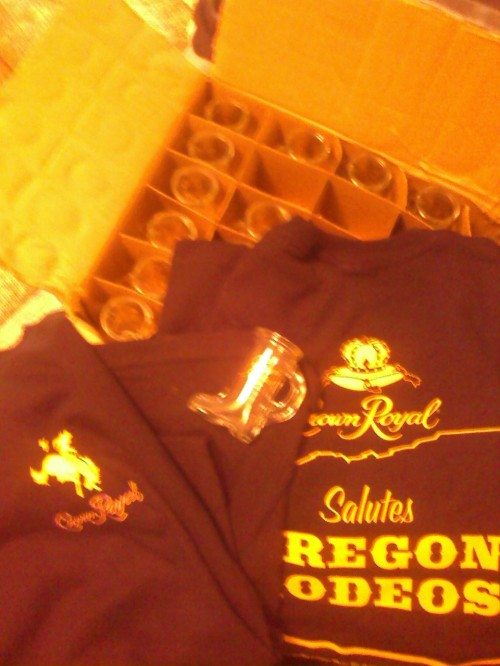That same Round Up I partied With The Crown Royal Distributors and they gave me free stuff to giveaway everyday with my CD's