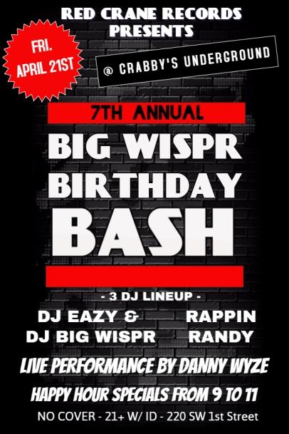 Big Wispr Bash Flyer