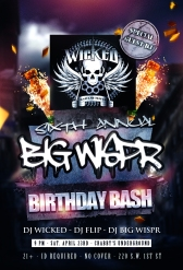 Flyer from the 6th Annual Birthday Bash I had in April 2016