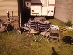 Backyard BBQ Setup For A Birthday