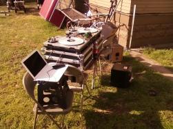 Backyard BBQ Set Up For A Birthday