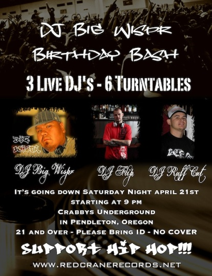My Birthday Flyer from 2012 - My Hometown never seen anything like this, such a good night and I have NO pictures or video lol just my memories, but damn, what a night of awesome music and great DJ's!!!