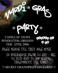 Another old Flyer from one of my First DJ shows in Pendleton