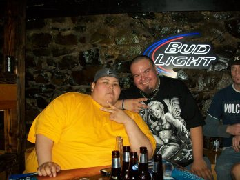 Chuckwick and Myself at my B-Day Bash Last Year
