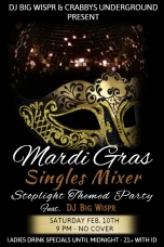Mardi Gras Singles Mixer Flyer